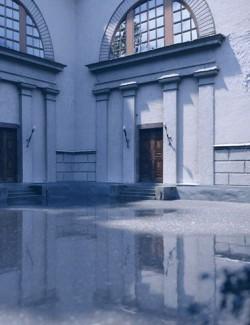 Museum Side Entrance - Photo Scanned Scene
