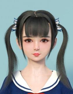 Lin dForce Hair for Genesis 8 Female(s)