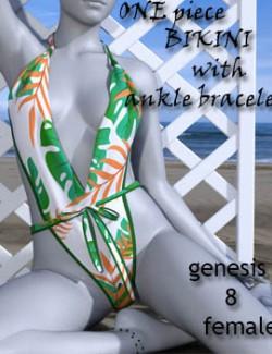 One Piece Bikini with Anklet