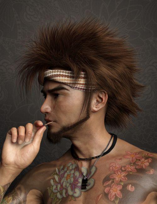 Denki Hair for Genesis 3 and 8