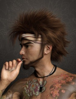 Denki Hair for Genesis 3 and 8