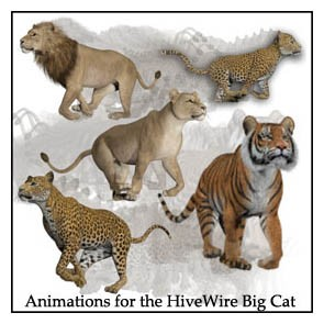 Animations for the HiveWire Big Cat
