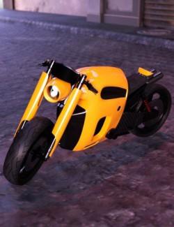 Retro-Futuristic Motorcycle