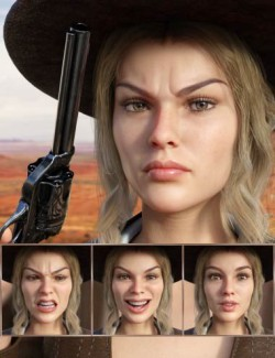 Western Girl - Expressions for Genesis 8 Female and Honni 8