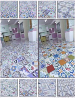 Patchwork Chic Floor Tile Iray Shaders