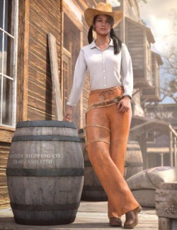 dForce Everyday Cowgirl Outfit for Genesis 8 Female(s)