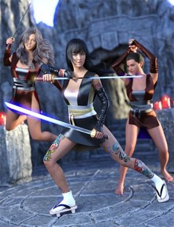 Voracious Action Poses for Genesis 8 Female