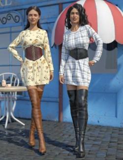 dForce Bustier Dress Outfit Textures