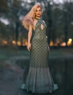 dForce Laura Dress for Genesis 8 Female(s)