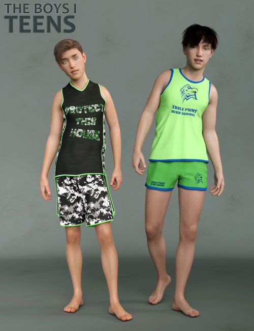 The Boys I - Teen Boys for Genesis 8 Male and Merchant Resource