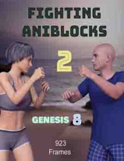 Fighting AniBlocks 2 for Genesis 8 Male and Female