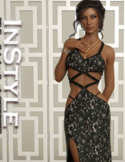 InStyle - JMR dForce Clarine Long Dress for G8F