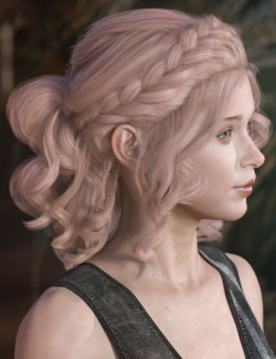 Mercedes Hair for Genesis 3 and 8 Female(s)
