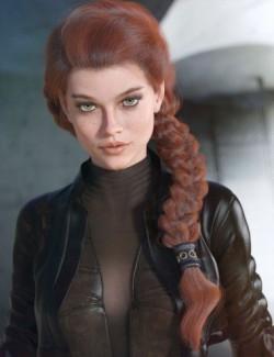 dForce Tara Hair for Genesis 3 and 8 Female(s)