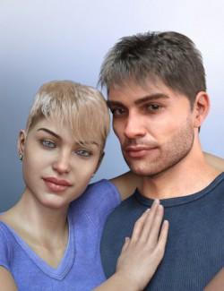 dForce Shy Style Hair for Genesis 8