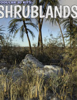 Modular 3D Kits: Shrublands