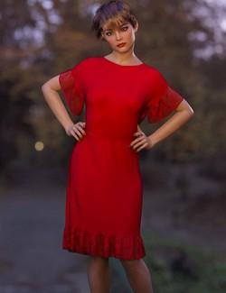 dForce Nelmi Kelly Dress for Genesis 8 Female(s)