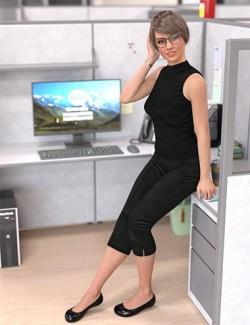 Essential Office Poses for Genesis 8 Female
