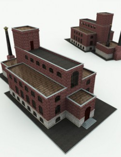 Charles Babbage Thinking Mansion for Poser