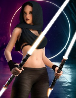 Star Warrior II Outfit Set for Genesis 8 Female(s)