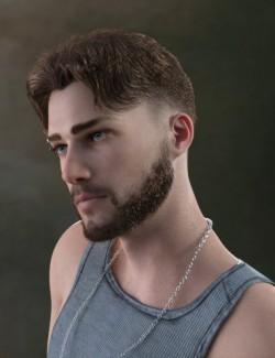 Nathan Fade Haircut and Beard for Genesis 8 Male(s)