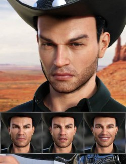 Cowboy Expressions for Genesis 8 Male and Holt 8
