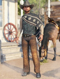 dForce Sunset Rider Outfit for Genesis 8 Male(s)