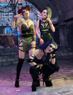 FF's Bad Girls Poses for Maeve and Genesis 8 Female