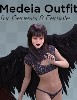 Medeia Outfit for Genesis 8 Female