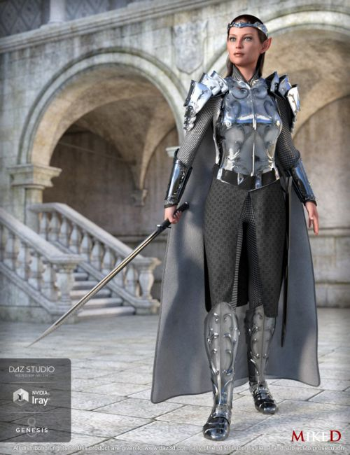 MD dForce HD Elven Royal Armor for Genesis 8 Female(s)