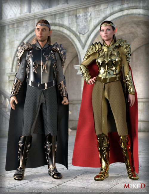 MD dForce HD Elven Royal Armor Textures and HD Morphs