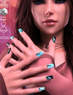 Dyeable Nail Designs for Genesis 8 Female