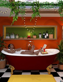 Boho Cottage: The Bathroom