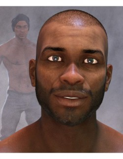 Khalan Character and Hair for Genesis 8 Male