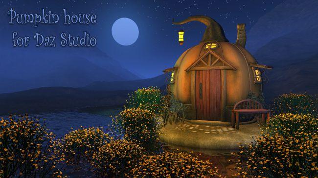Pumpkin house for Daz Studio