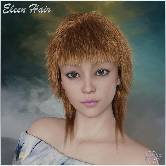 Prae-Eleen Hair for Genesis 8