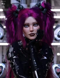 dForce Xariah Dual Ponytails Hair for Genesis 8 Female(s)