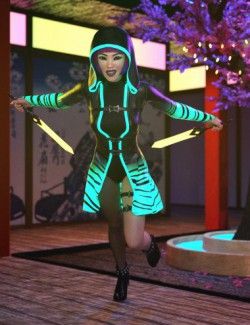 dForce Shadow Villain Outfit for Genesis 8 Females
