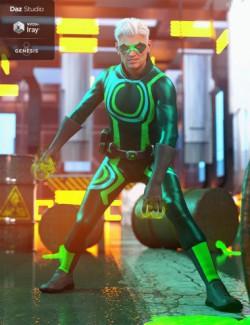 Marvelous Bodysuit Male Super Hero Textures