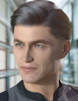 dForce Thadeus Hair for Genesis 3 & 8 Male(s)