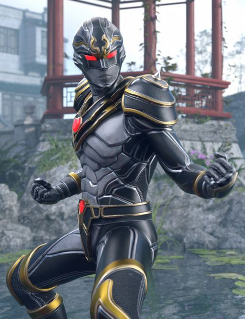XuanWu - The Black Turtle Outfit for Genesis 8 Male(s)
