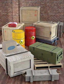 Shipping Crates and Cargo