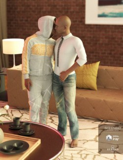 Love is Love Poses for Genesis 3 and 8 Male
