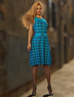 dForce Diana Dress for Genesis 8 Female(s)