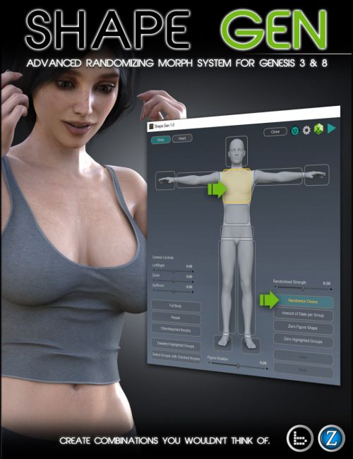 Shape Gen for Genesis 3 and 8