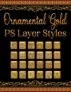 Ornamental Gold PS Layer Styles