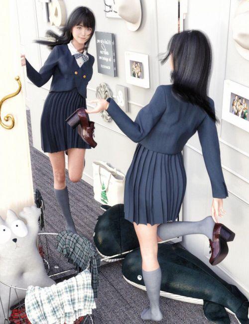 FE JK Hemmed Blazer 01 for Genesis 8 Female(s)