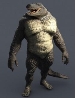 Sobek HD Crocodile for Genesis 8 Male