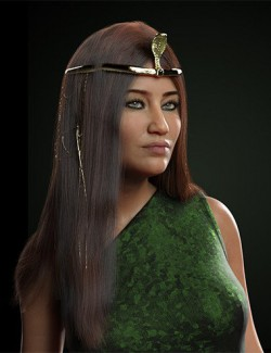 dforce Desert Queen Hair for Genesis 3 and 8 Female(s)