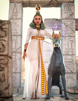 dForce Hemet-nisut Outfit for Genesis 8 Females